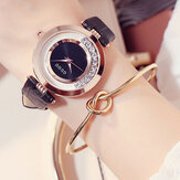 GUOU 8039 Fashion Leather Strap Female Quartz Watch