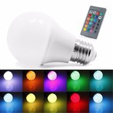 E27 5W RGB 16 Color LED Globe Bulbs RGB LED Light With 24Key Rmote Control AC 85-265