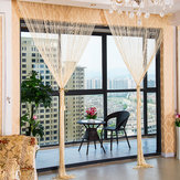 1.0x2.0m Glitter String Bead Door Curtain Panels Vliegscherm & Kamer Divider Voile Curtains Net