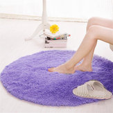 Round Anti Skid Fluffy Shaggy Area Rug Eetkamer Home Table Carpet Floor Mat