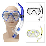 Diving Mask Scuba Snorkel Goggles Face Glasses With Breath Tube Set For Adult