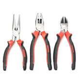 3Pcs 8inch inch Heavy Duty Long Nose Combination Cutter Plier All Purpose