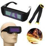Solar Powered Auto Darkening Welding Mask Helmet Eyes Goggles Tow-way Glasses