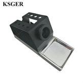 KSGER saldatura Supporto per stazione di ferro STC STM32 Manico in metallo Lega di alluminio Strumenti Telefono per riparazione