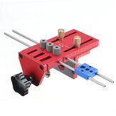 X700 3 in 1 Aluminium Alloy Dowelling Jig dengan Sistem Penjepit Set Wood Dowel Drilling Position Jig Woodworking Tool