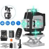 16 liniowy 360 ° poziomy krzyż pionowy 4D zielone światło poziomica laserowa samopoziomująca Bardzo mocna wiązka laserowa