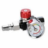 Armadilha do medidor de pressão da válvula do regulador de ar mini de 1/4 '' ajustável com bocal