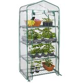 4 Tier Greenhouse Mini Indoor Indoor Garden Growhouse Tanaman Dengan Penutup PVC