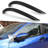 2 X Carbon Fiber Color Door Side Mirror Cover Car Decals Trim For Honda Civic 2016-18