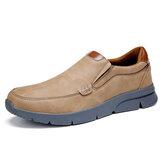 Menico masculino microfibra de couro confortável deslizante calçados informais empresariais