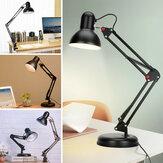 5W Super Bright Swing Arm Desk lampada Morsetto sulla lampada da tavolo con LED Clip in metallo per lampadina 220V