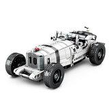 Building Blocks Assemble Retro Vintage Cars Antique Car Models Children's Toy Cars Pull Back Cars Toys