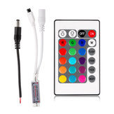 24 Keys Wireless IR Remote Controller with DC Male Connector for RGB LED Strip Light DC12V