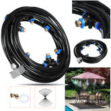 8M utomhusmunstycke Kylvätskesystem Water Sprinkler Garden Patio Mister Cooling Spray Kit