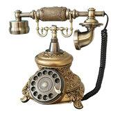 عتيق عتيق هاتف قديم الطراز مكتب الهاتف ذو حبال ذهبية قديمة