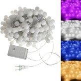 Novo 20m 200 LED bola colorida à prova d'água corda de fada luz de fada festa de casamento decoração de feriado 110V
