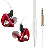 QKZ CK5 Wired Earphone Stereo Bass Noise Reduction 10MM Dynamic Earbuds 3.5MM In-Ear Sports Headset with HD Mic