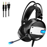 A10 Wired Gaming Headset Bass Noise Cancelling 7.1 Channel Headphone Over-ear With Mic LED Light for PC Computer