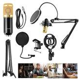 Zestaw mikrofonu pojemnościowego BM800 Pro Studio do nagrywania dźwięku z mocowaniem wstrząsowym na stojaku