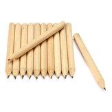 Ny 100 stk. Gratis forsendelse Log Træ Kort blyant 8,6 cm Miljøvenlig blyant Skole Student Mekanisk grafit