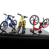 1:10 Mini modello di bicicletta pieghevole apribile pieghevole per bicicletta da corsa in lega modello di giocattoli