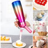 Distribuidor de creme chantilly 500ml Bocais de biscoito chicoteador Criador de sobremesas para distribuidor de creme de cozimento em cozinha