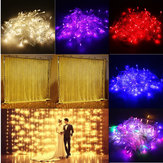 3M 10W 300LED 8 режимов Window Curtain Icicle String Fairy Holiday Light Свадебное Party US Plug AC110V