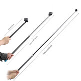 TELESIN 56cm-270cm 2.7m Adjustable Selfie Stick Carbon Fiber Extension Rod for Action Cameras Gimbals Non-original