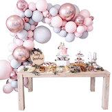 169 Pcs Balões + Kit Arco Arco Conjunto Macaron Baloons Wedding Guirlanda Decoração