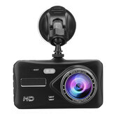 4 polegadas 1080P HD Carro lente dupla frente + traseira Car Dash Cam DVR Camera Recorder Touch Screen