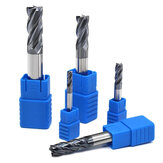 Drillpro 1-20mm 4 Flute Milling Cutter Tungsten Steel HRC50 End Mill Milling Machine Tools for Steel