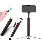 Bakeey Tüm One içinde Tripod Olmayan Skid Monopod ile Gizli Tasarım Alüminyum Uzatılabilir Selfie Çubuk
