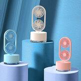 Mini Çift Kafa Fan 3 Hız USB Şarj Edilebilir Klima Fanı 400ml Su Deposu Sprey Nemlendirme