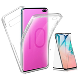 Full Body Clear Touch Screen Protective Case+3D Tempered Glass Screen Protector For Samsung Galaxy S10 Plus