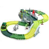 Dinosaur Race Track Car Toy Set Puzzle Rail Model DIY Assembly
