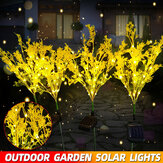Outdoor Solar Powered LED Canola Flowers Lawn Light Waterproof Garden Lamp Home Decoration
