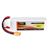 ZOP Power 11.1V 2200mAh 3S 20C Lipo Battery XT60 Plug for Eachine Wizard X220 FPV Racing RC Drone