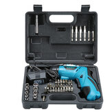 48PCS 4.8V Cordless Electric Screwdriver Rechargeable Power Household DIY Power Tool
