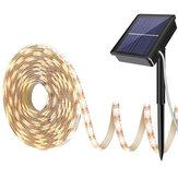 Теплый белый Солнечная Power Light Strip 2835 LED IP65 Водонепроницаемы На открытом воздухе Сад Decor