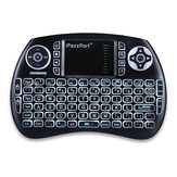 IPazzPort KP-810-21S 2.4GHz 3-Color Backlight Wireless Mini Keyboard Air Mouse Remote Control Touchpad for Android Smart TV Box