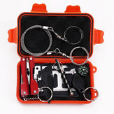 9 In 1 Camping Hiking Emergency SOS Outdoor Tactical Survival Equipment Kit Set