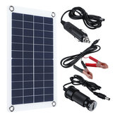30W 12V Solar Panel Monocrystalline Silicon Battery Charger Kit 0-800MA Silicon