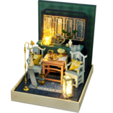 TIANYU DIY Doll House TW36 Ink Color Collection of Qingdai Creative Antiquity Scene Handmade Small House
