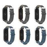 Bakeey Metal Caso Pulseira de couro Relógio Banda Substituição da pulseira para Xiaomi Mi banda 3 Não original