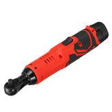 Trinquete eléctrico 12V 4000mAh Llave con ángulo luz LED 90 ° Llave herramienta Litio Batería