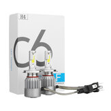 C6 COB LED Headlights Bulb Fog Lamp H1 H3 H4 H7 H8/H9/H11 9005/9006 72W 7600LM 6000K White 2PCS For Car Motor
