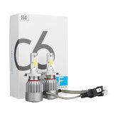 C6COBLEDFariNebbialampadina lampada H1 H3 H4 H7 H8/H9/H11 9005/9006 72W 7600LM 6000K Bianco 2 PZ