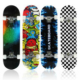 31.5inch 8-layers Maple Skateboard Double Rocker Board Skate Board with ABEC-7 Bearings for Beginninger&Professional