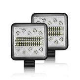 1PCS Square 48W LED Luz de trabajo 12V 24V Off Road Flood Spot Lámpara para Coche camión SUV Moto