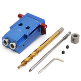 Pocket Hole Jig Kit Mini Hole Jig with Step Drill Bit For Woodworking